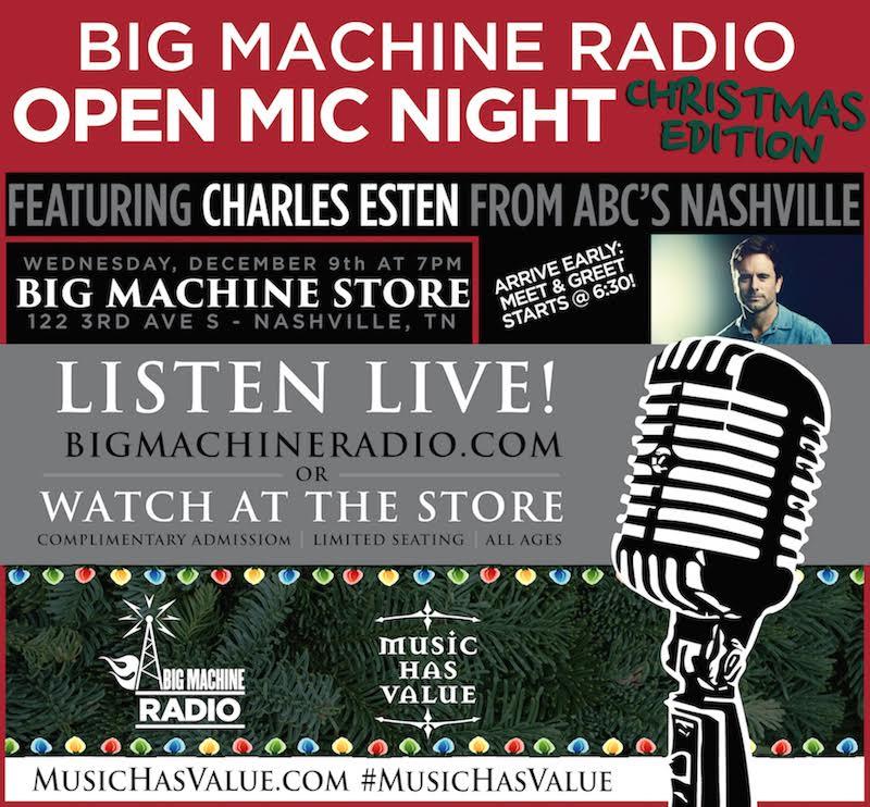 Nashville, TN – Big Machine Radio with Charles Esten